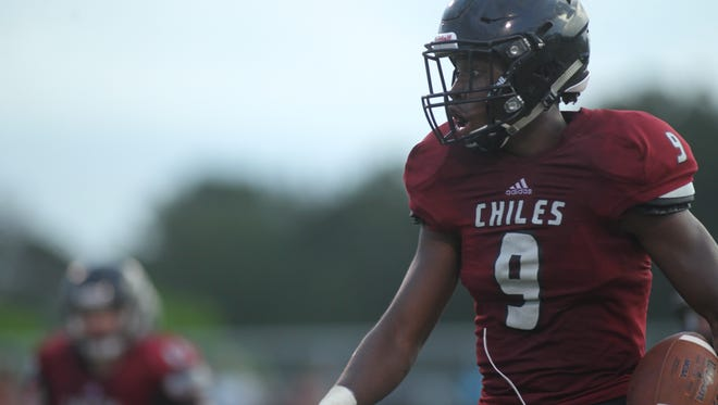 Chiles running back Shane Sanders was limited to 38 yards in a 14-7 loss to Mosley.