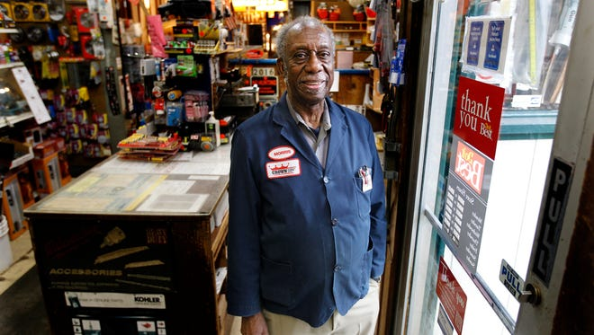 Morris Oglesby, 78, has worked at Crown Hardware and Plumbing Supply for 54 years.