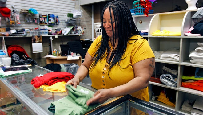Pamela Young, owner of Custom Prints and Designs by Pamela, is one of a group of merchants operating shops in the Milwaukee Mall. She said the vendors in the mall are the people keeping it alive.