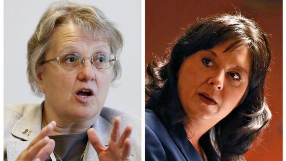 Education Superintendent Diane Douglas (left) and Secretary