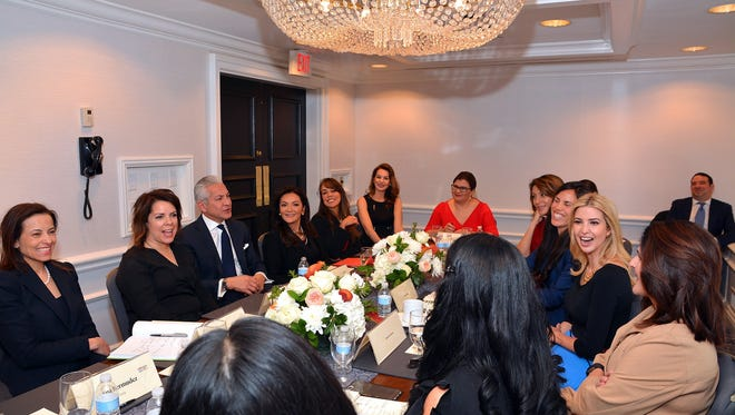 Katherine O'Hara, second from left, was one of nine Hispanic women small-business owners to take part in a United States Hispanic Chamber of Commerce roundtable discussion with President Donald Trump's daughter, Ivanka, during the 2017 USHCC Legislative Summit in Washington.