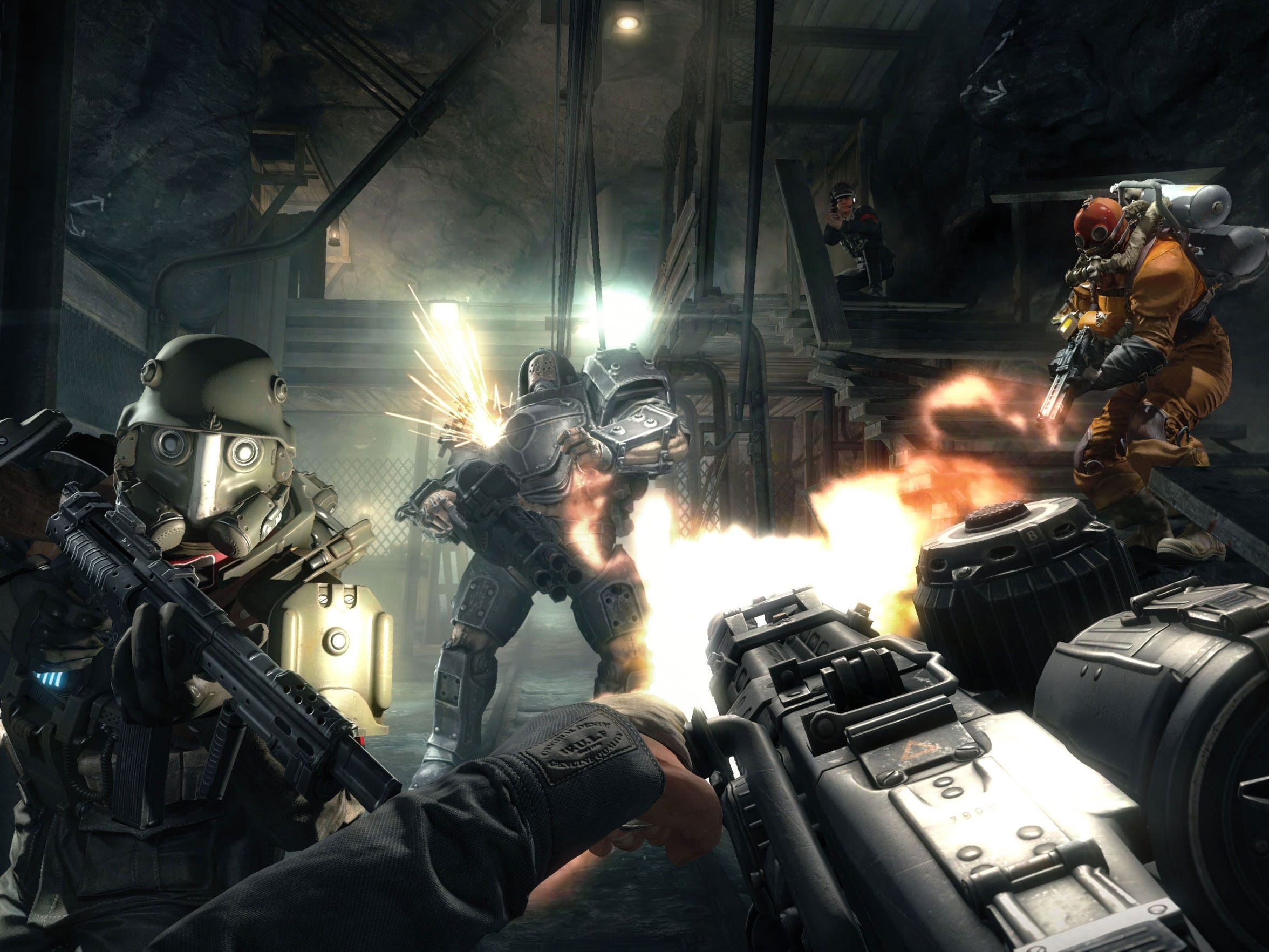 "Stand up to the Nazi war machine in the standalone DLC prequel, ""Wolfenstein: The Old Blood."""