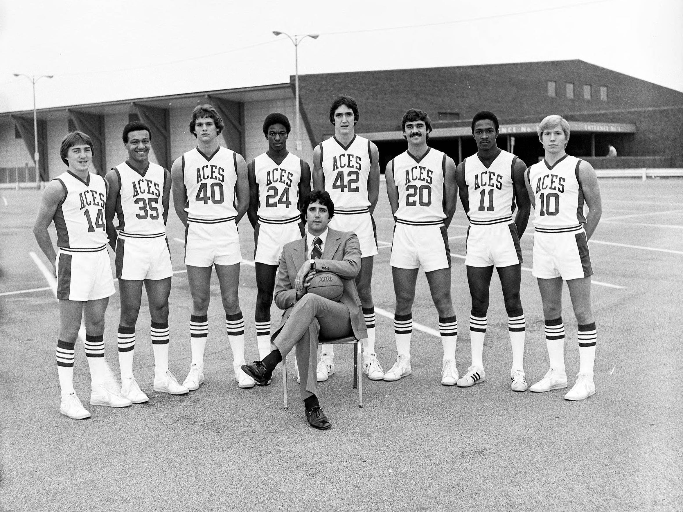 University of Evansville Purple Ace's 1977 basketball