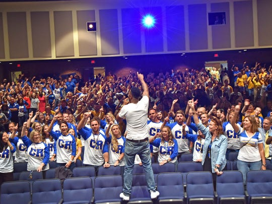 Dover native Amillion has expanded his work to include motivational speaking, including a recent gig at Caesar Rodney High School.