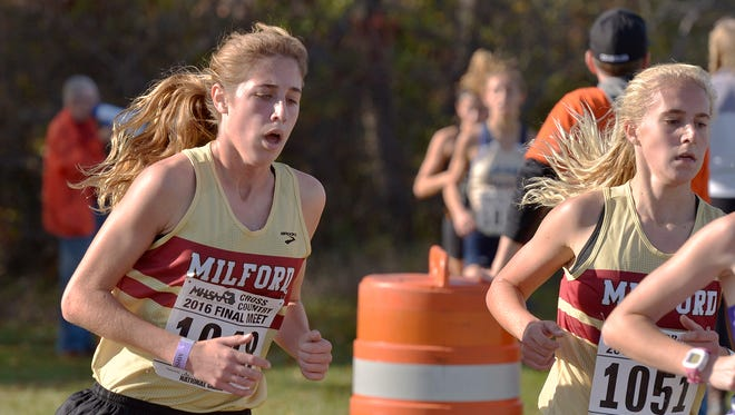 Mallory Barrett (left) and Victoria Heiligenthal (right) led the way for the Division 1 champion Mavericks.
