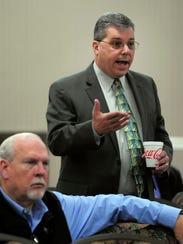Metro Councilman Steve Glover, right