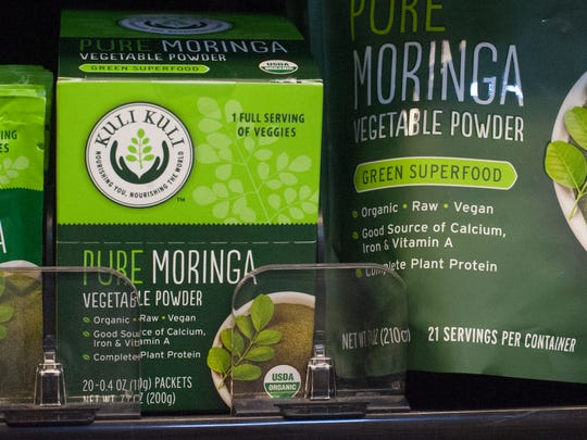 Moringa is currently being marketed as a superfood. It's shown here at the Whole Foods  in Cherry Hill.