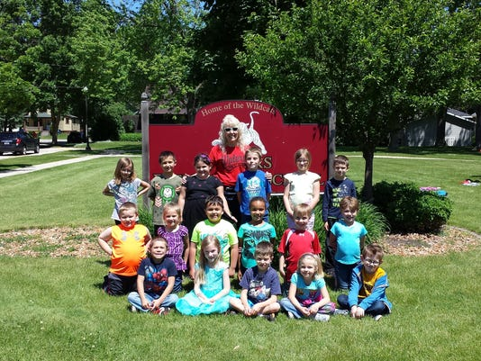 Parish first grade class