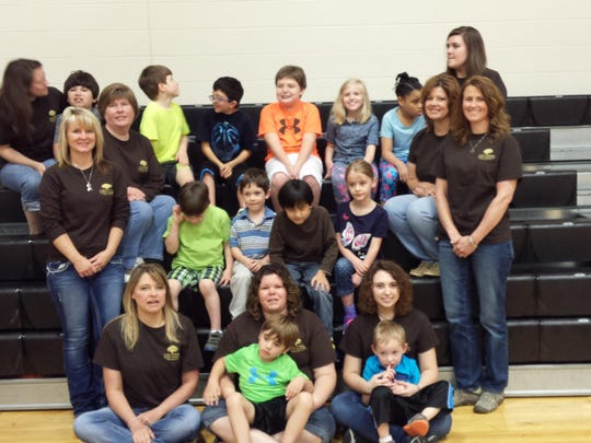 Students and teachers at Sheltering Tree Ranch