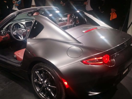 The new Mazda MX-5 Miata hardtop convertible.