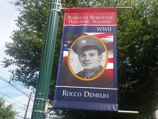 The Raritan Historic and Cultural Committee has hung banners on Somerset Street honoring borough residents who died in World War II.