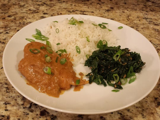 West African Peanut Chicken made from ingredients and