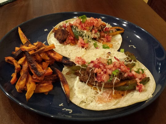 Beef taco meal