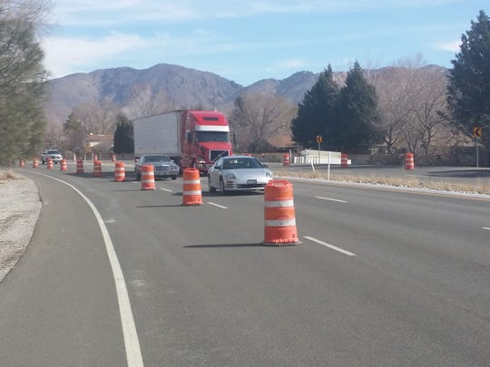 Lanes were reduced one week in each direction this past week ahead of construction