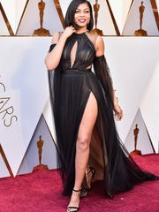 Taraji P. Henson attends the 90th Academy Awards at Hollywood & Highland Center on Sunday in Hollywood, California.