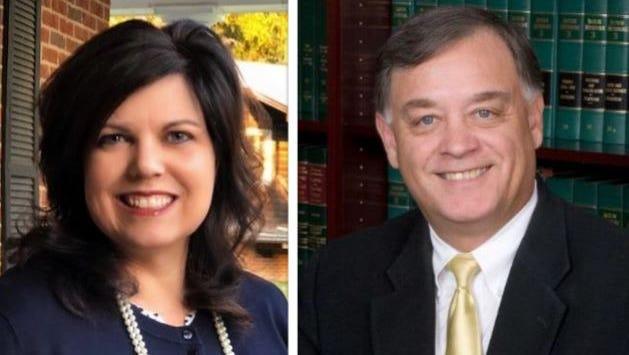 Kim Kervin, left, and Paul Beckman Jr., right, seek GOP nomination for Autauga County Probate Judge post.