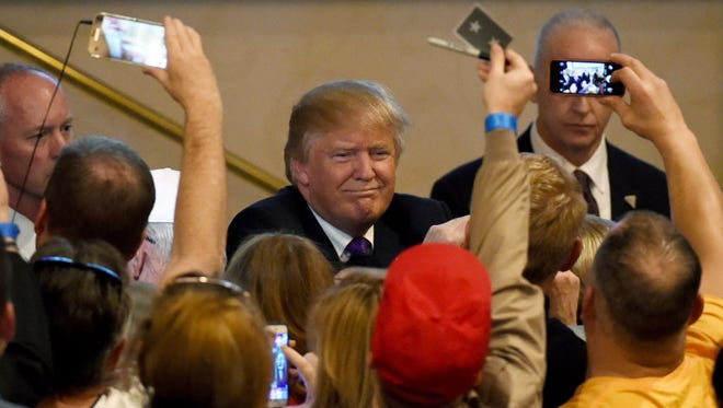 Donald Trump campaigns in Las Vegas on Feb. 23, 2016.