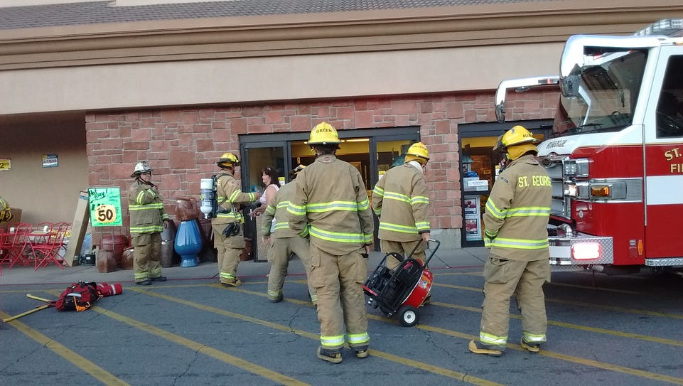 St. George firefighters work to clear smoke from Smith's