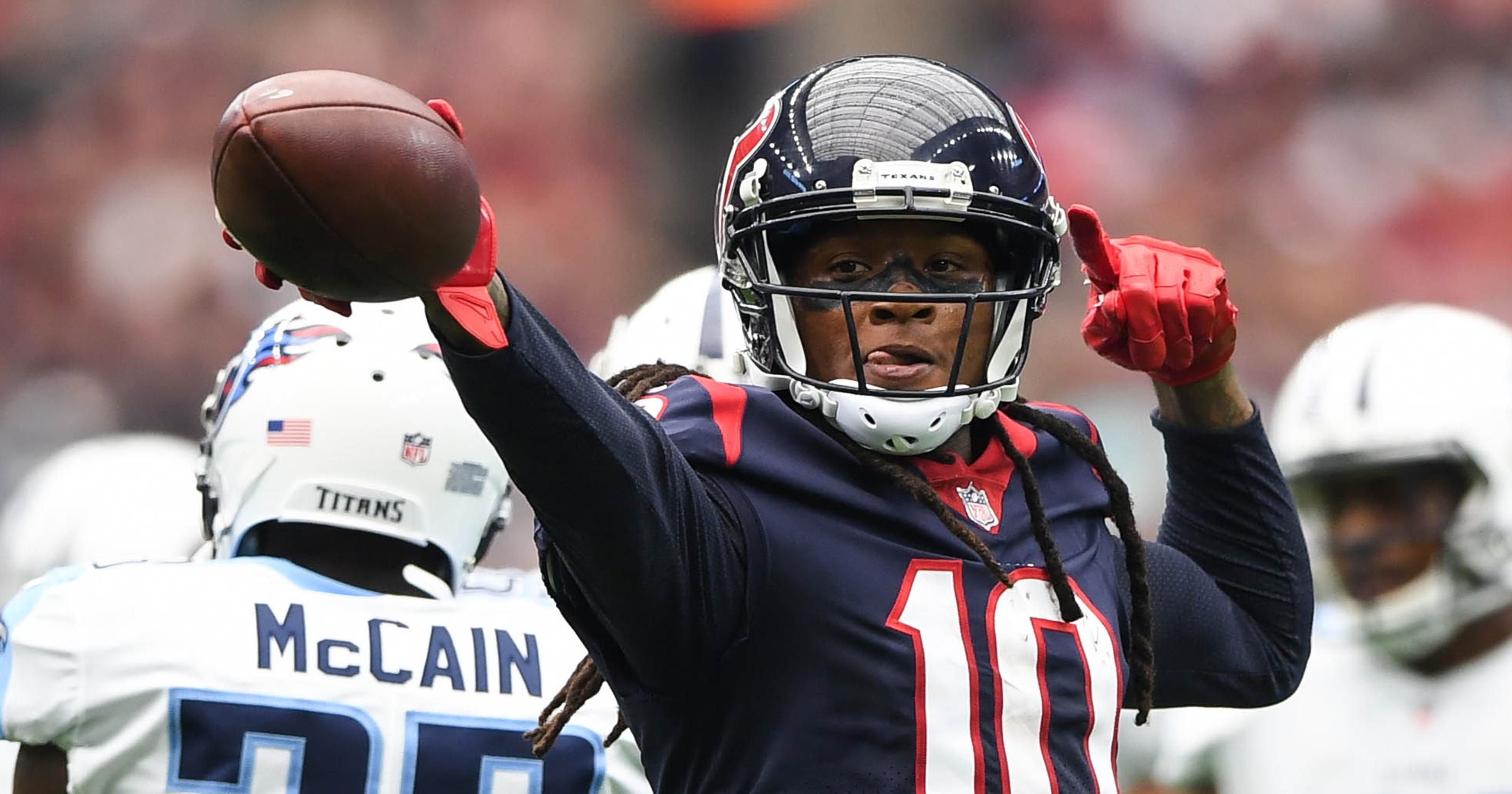 cc222d14 Texans' DeAndre Hopkins misses practice as Bob McNair apologizes