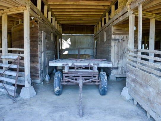 Inside view of the historic Thomas C. Singleton barn