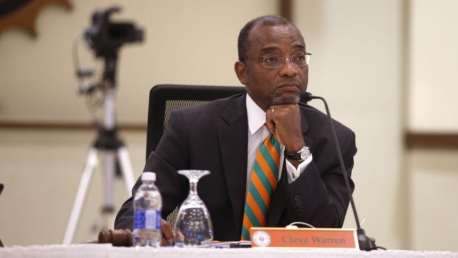 Cleve Warren, chairman of FAMU trustees, was not  reappointed by BOG on Thursday. l