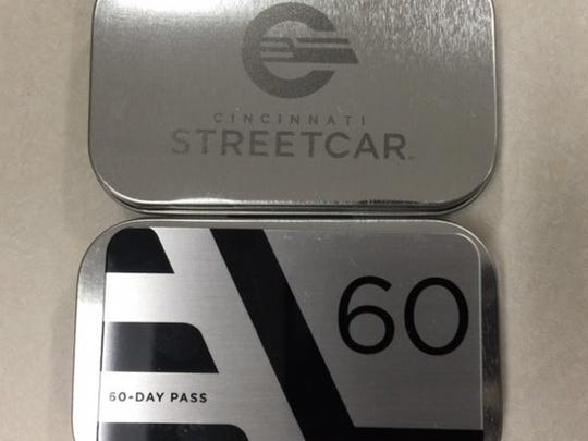 "A look at the streetcar's new logo and commemorative ""Founders' Club"" fare card."
