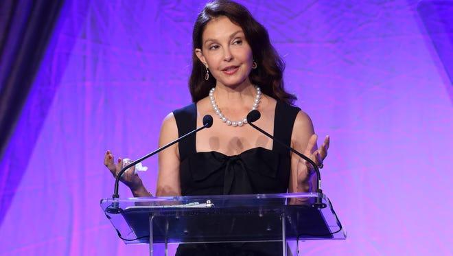 Actress/feminist Ashley Judd accepted the Kentucky Humanitarian Award during the Muhammad Ali Humanitarian Awards.  Sep. 23, 2017