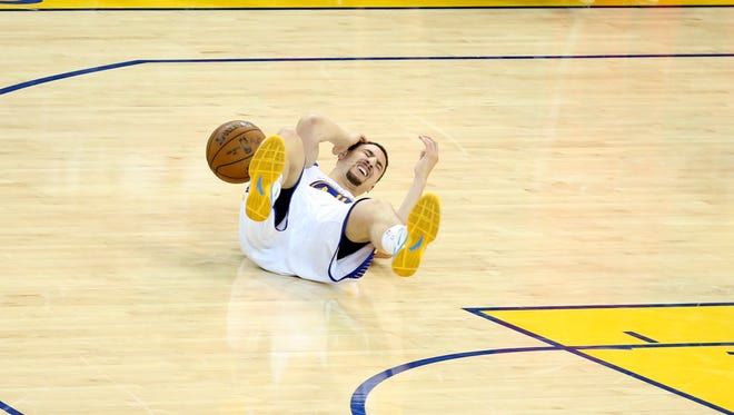 Golden State Warriors guard Klay Thompson suffered a concussion