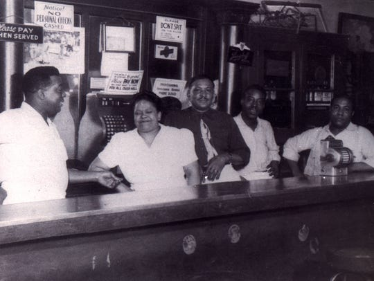 """In the 1948 photo, chef Theodore """"Buster"""" Phillips"""