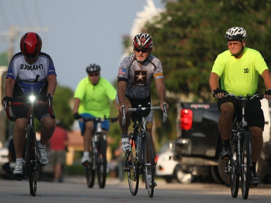 Over 150 cyclists rode in the Ride of Silence event Wednesday in Naples. The free 10-mile awareness ride's aim was to inform motorists, police, and city officials of cyclists' legal right to the public roadways. The cyclists wore black ribbons and armbands to honor those who have been killed or injured while cycling.