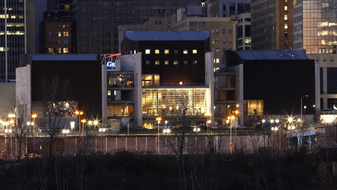 The National Underground Railroad Freedom Center as seen from across the river. More records are being added to help people, especially African-Americans, trace their history.