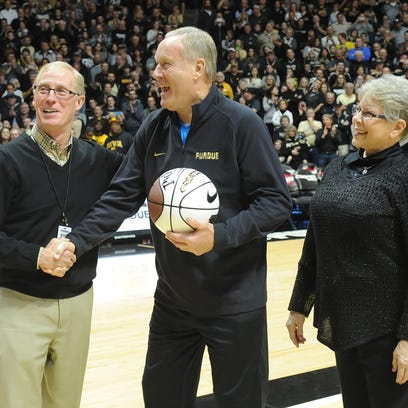 Purdue honored Rick Mount at a game in January. Mount
