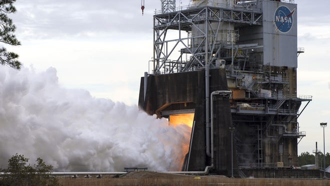 NASA followed up its first RS-25 test of 2018 with a second hot fire of the Space Launch System engine on Feb. 1 at Stennis Space Center.