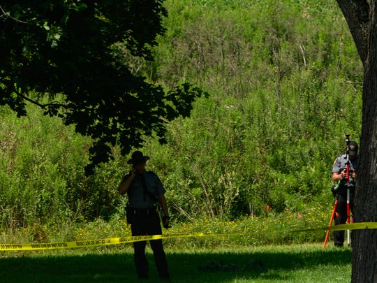 State police investigate after a body was found in