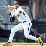 Southern Miss' Cody Carroll (37) fields the ball last week during the Golden Eagles' series-opening game against Florida Atlantic at Pete Taylor Park.