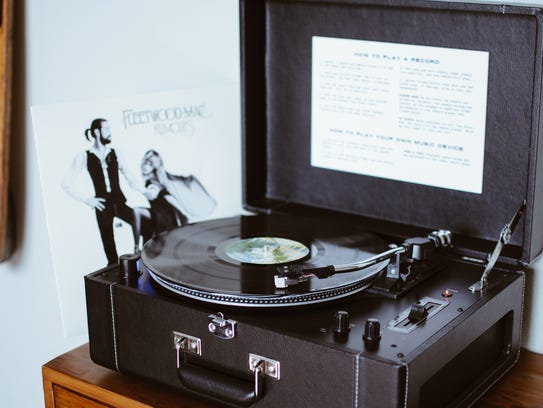 Every room at The Oxbow Hotel in Eau Claire has a record