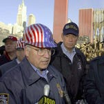 Vice President Cheney at Ground Zero on Oct. 18, 2001.