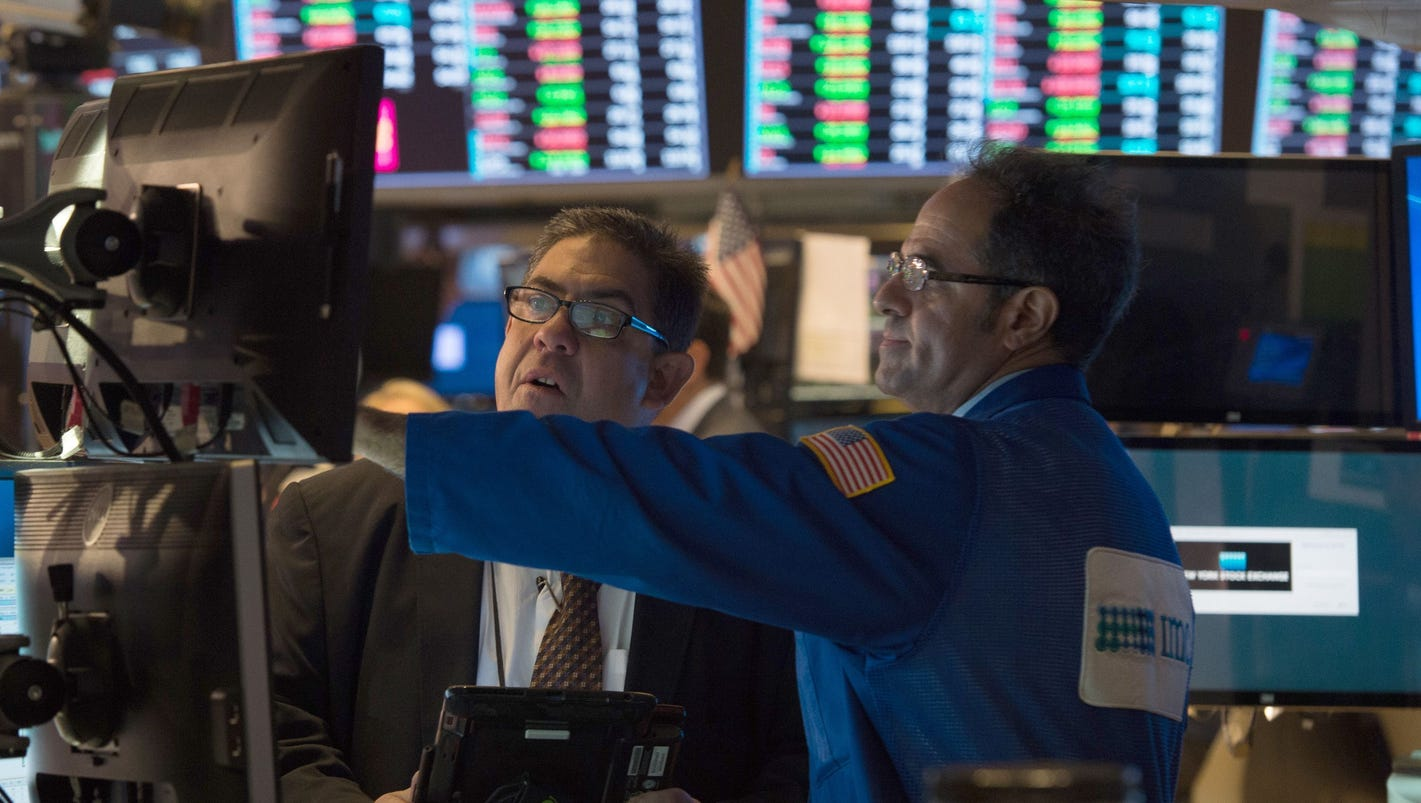 Dow Jones industrial average rises 5,000 points in a year for first time