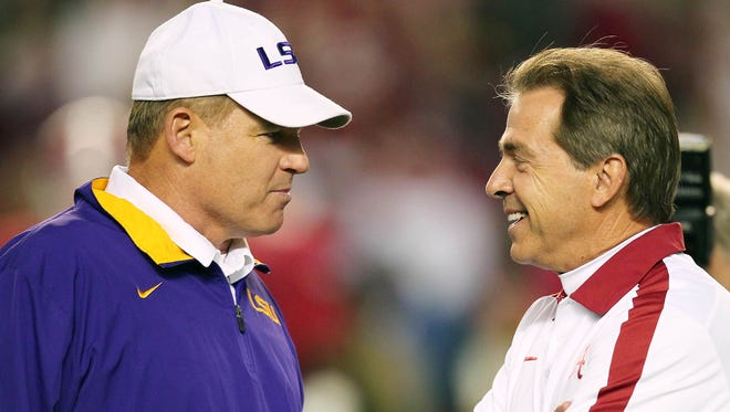 Les Miles and Nick Saban have maintained their programs in a time of upheaval in the SEC.