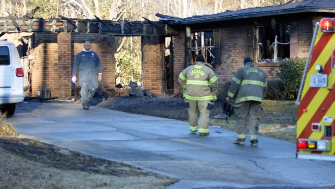 Jackson firefighters are on the scene of a fatal house fire.