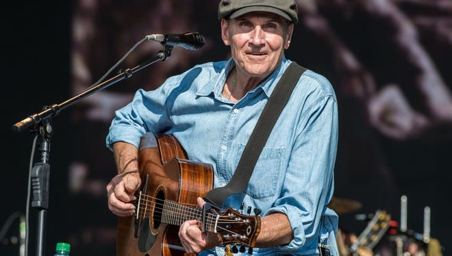 James Taylor performs on stage at Hyde Park on July 15, 2018 in London.