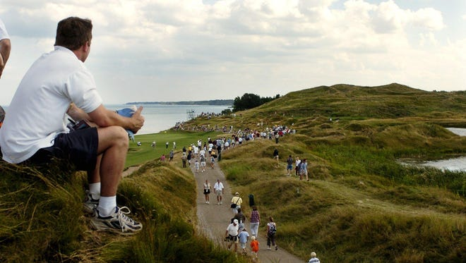 Spectators at Whistling Straits will have new options for following the PGA Championship from the course, including a phone app that will show where specific golfers are on the course.