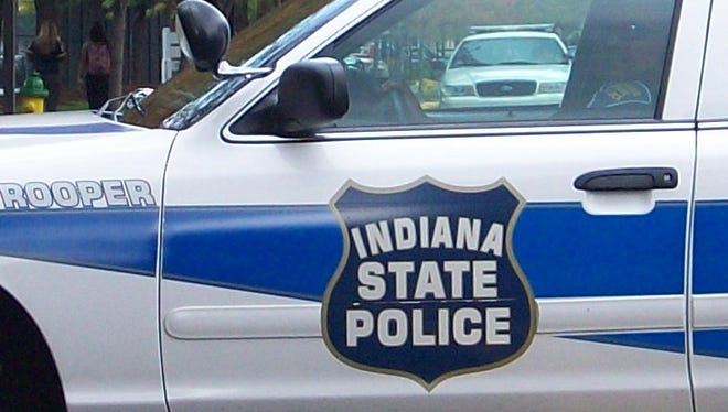 Photo shows an Indiana State Police cruiser.