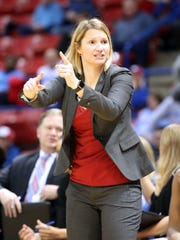 Techsters coach Brooke Stoehr saw her team lose at FAU on Saturday.