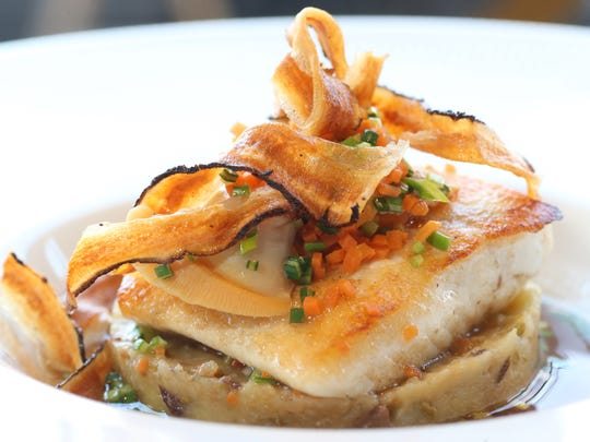 The Pan Seared Halibut at Liberty Street Bistro in
