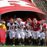 FILE - The Annual Scarlet-White Rutgers spring football game held at Rutgers Stadium in Piscataway.