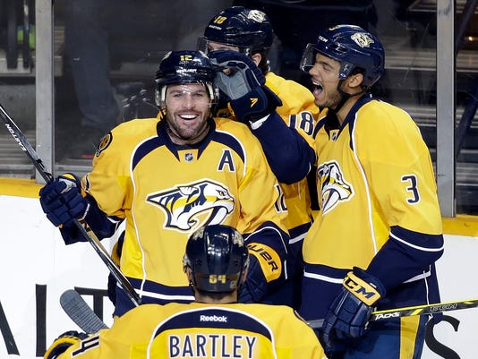 James Neal, Seth Jones, Mike Fisher