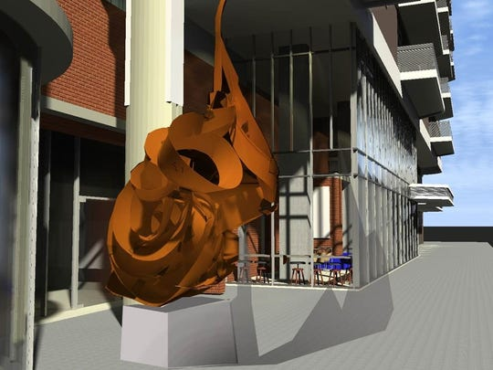 Renowned Phoenix sculptor Pete Deise has been retained to create the largest piece of his career for the Stewart in downtown Phoenix. Rising off the Stewart's Central Avenue frontage the multistory fusion of steel will symbolize the building's partial razing but ultimately its rebirth.