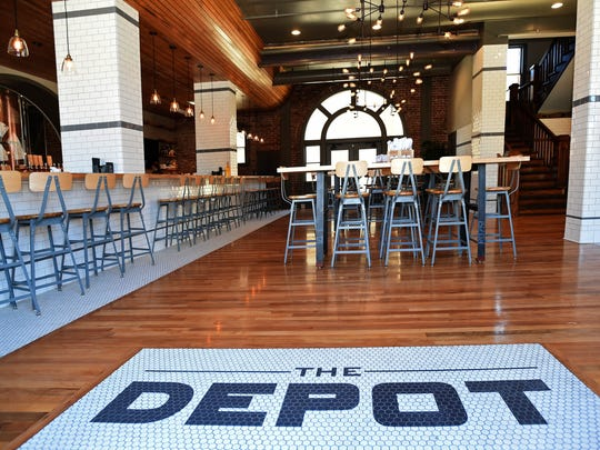 Andy Barron/RGJ The Depot Craft Brewery Distillery on East Fourth Street is in a 100-year-old train station.