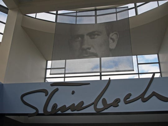The rotunda at the National Steinbeck Center in Salinas.